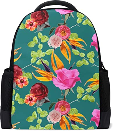 16x12x6 Student Backpacks College School Book Bag Travel Hiking Camping Daypack Holds 15.4-inch Laptop(National Style)