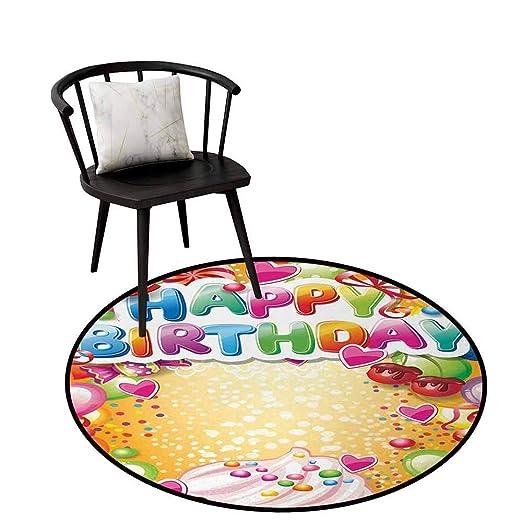 Alfombra Redonda de poliéster, Ideal para cumpleaños para ...