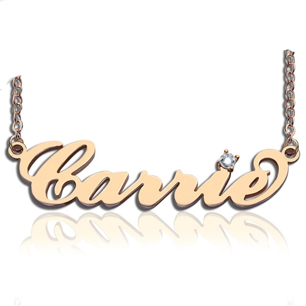 Personalized Necklaces Custom Name Necklace With Birthstone Pendant Best Girls Gift