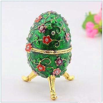 Huevo de ciruelo joyero caja de regalo manualidades: Amazon.es: Juguetes y juegos