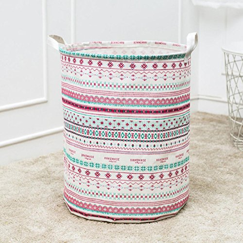 Waterproof Canvas Sheets Laundry Clothes Laundry Basket Storage Basket ,Tuscom Folding Storage Box (44×35CM/42L/Style:B)