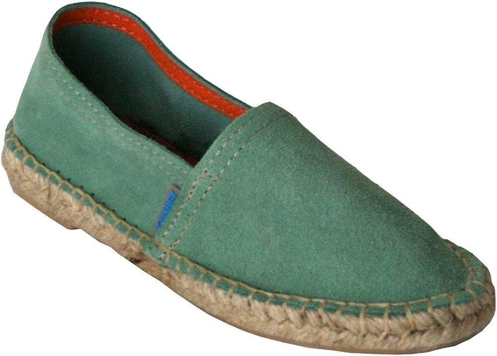 Leon - Alpargata de Piel niño Verde mar: Amazon.es: Zapatos y ...