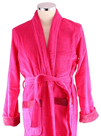 bbf991052e Bown of London Womens Fuchsia Berry Short Dressing Gown - Pink - Small