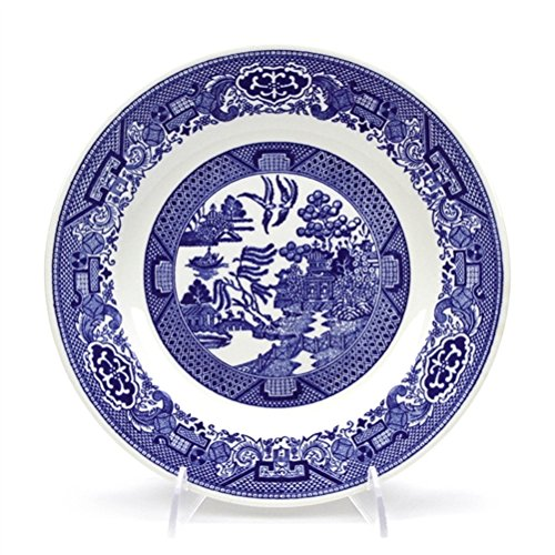 (Dinner Plate by Royal China, Stoneware, Willow Ware)