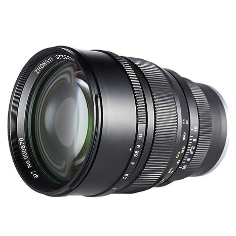 Andoer® Óptica de Zhong Yi 85 mm F1.2 135 Full Frame Fijo focal ...
