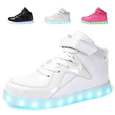 Amazon.com  xiaoyang Adult Kids LED Light Up High Top Wings Shoes USB  Rechargeable Flashing Sneakers for Boys Girls Men Women  Shoes 06aa17756