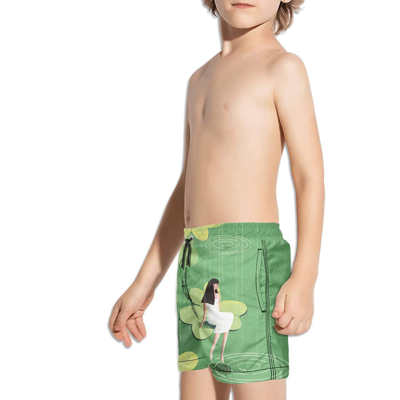 Little Boys T-rex Short Swim Trunks Quick Dry Beach Shorts