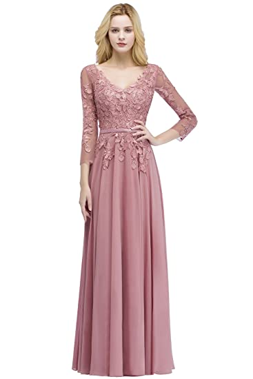 Maxi Long Chiffon Dresses with Sleeves