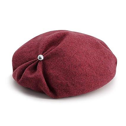 Boinas Sombrero De Piel De Color Sólido Gorro De Plisado De Moda Femenina  Sombrero De Primavera 845f2b7cf8f