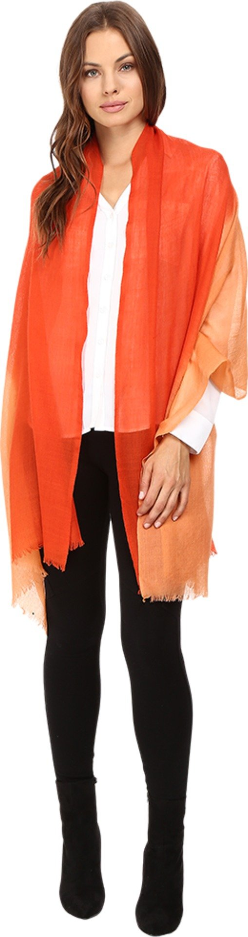 Love Quotes Women's Travel Weight Cashmere Dip-Dye Scarf Terra/Picante Scarf One Size
