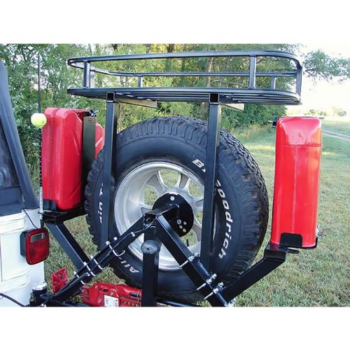 Rock Hard 4x4 Passenger Side Right Tank Mount for RH4x4 Tire Carriers (Tire Carrier Lockable Spare)