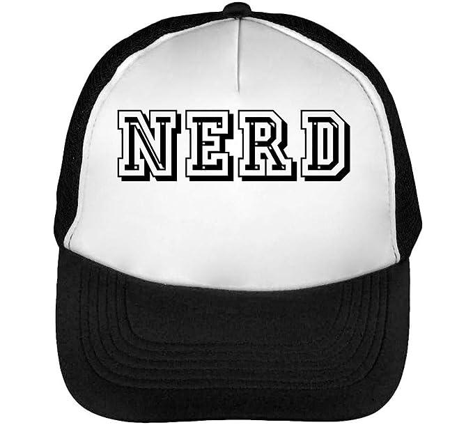 Nerd Funny New York Fonted Slogan Gorras Hombre Snapback Beisbol Negro Blanco: Amazon.es: Ropa y accesorios
