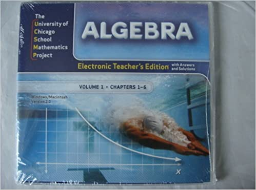 Electronic Teacher's Edition with Answers and Solutions (UCSMP ...