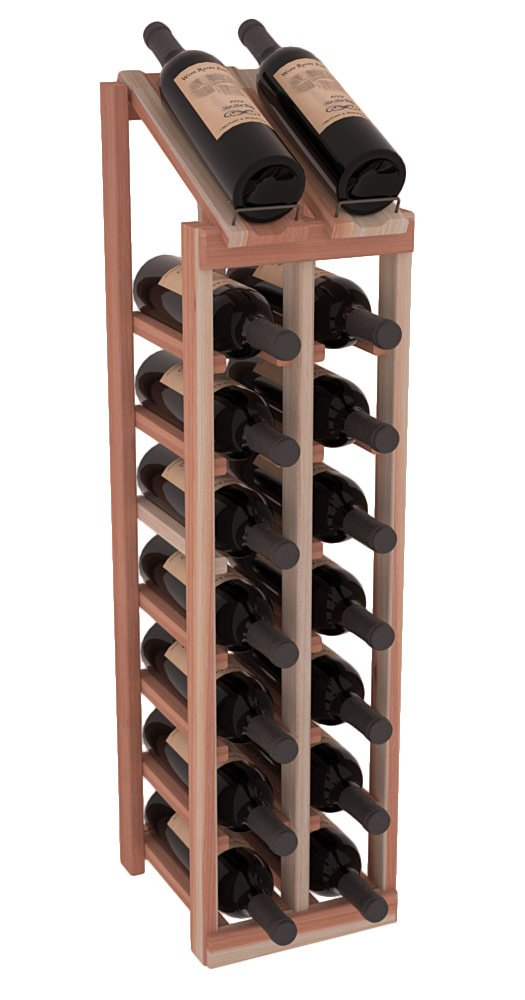 Wine Racks America Redwood 2 Column 8 Row Display Top Kit. 13 Stains to Choose From!