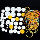 GeeBot Pulley Combination Package Rubber Belts Rubber Band Plastic Model Accessories DIY Robots & Cars