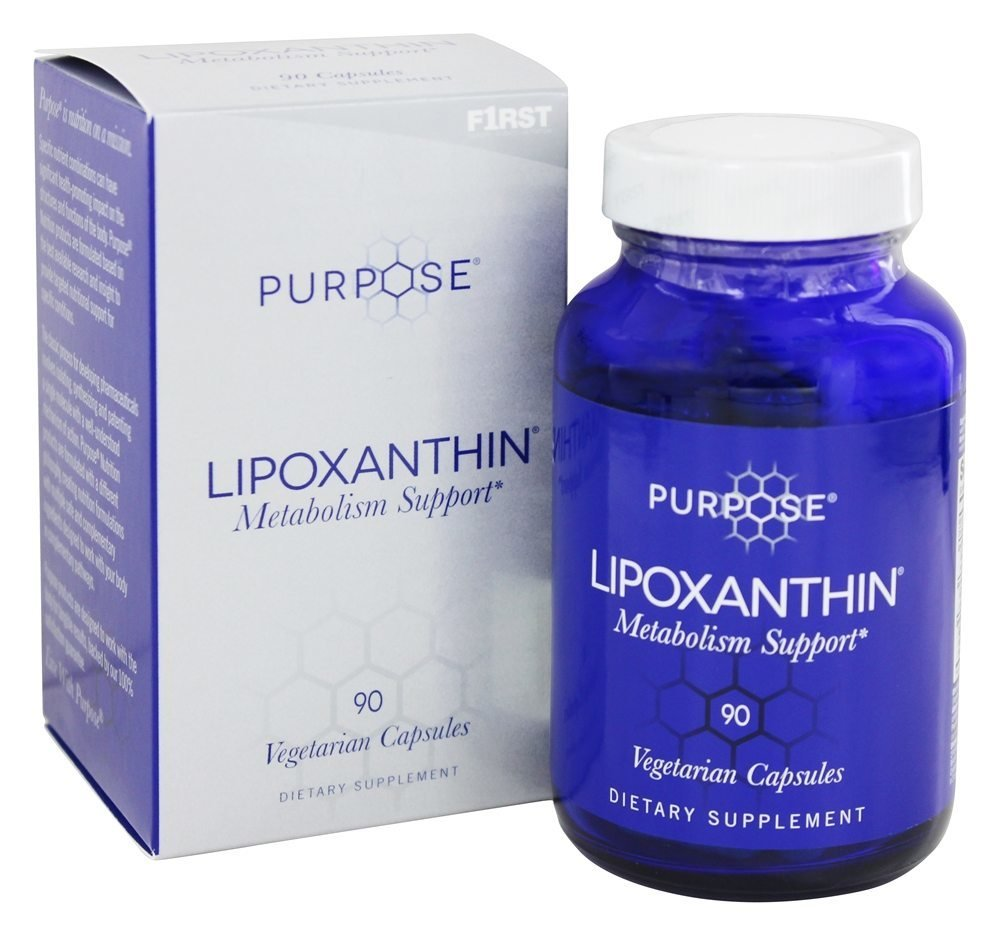 Purpose® Lipoxanthin® Metabolism Support, Increased Calorie and Fat Burning, Contains Fucoxanthin, All Natural Caffeine and Green Tea. Antioxidant Cell Protection. 90 Vegetarian Capsules.