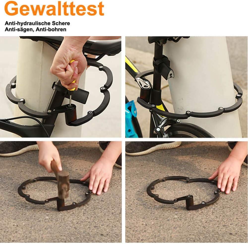 toptrek – Candado plegable con soporte para bicicletas llave Nivel ...