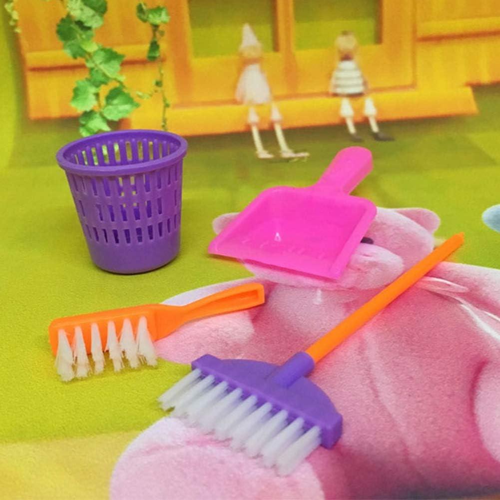 Originaltree 9/pcs Outil de Nettoyage Balai Jouet Pretend Play Meubles Mini Housekeeping Brosse