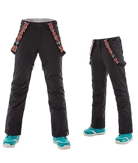 4953ac9d1e APTRO Women s Snow Pants Removable Suspender Ski Outdoor Fleece Insulated  Pants (Black