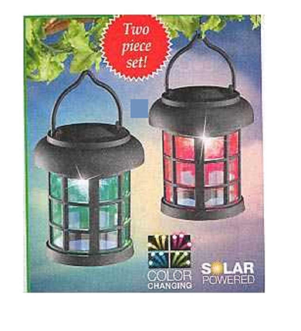 Set of 2 Trenton Gifts Color Changing Solar Powered Lanterns