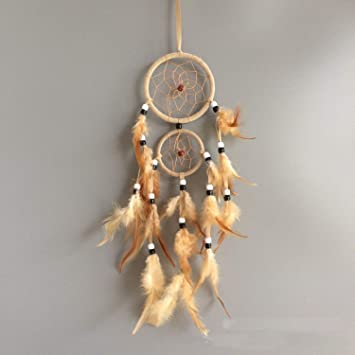 Batop Vintage Home Decoration - Retro Feather Dream Catcher Circular Feathers Wall Hanging - Dreamcatchers Decor