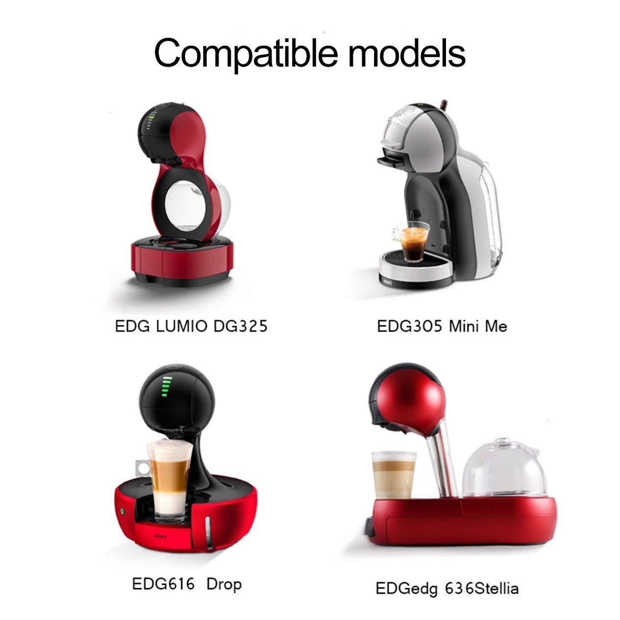 IronHeel Metal Rusable Coffee Capsule Filtro de Acero Inoxidable para Dolce Gusto EDG Lumio Filtro de Recarga Recargable Tamper Plata