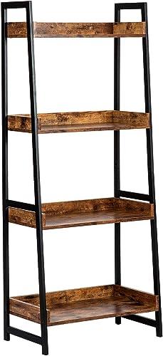 AMOAK 4-Tier Bookshelf