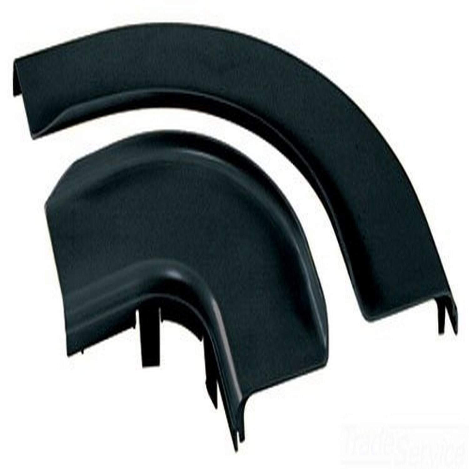 Black Panduit FRRASC6BL Horizontal Right Angle Raceway Split Cover