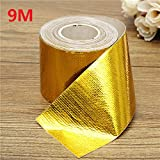 QOJA 9mx5cm adhesive reflective gold high temperature heat shield