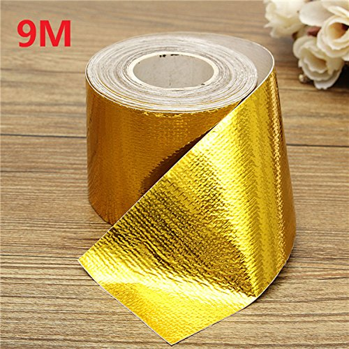 QOJA 9mx5cm adhesive reflective gold high temperature heat shield by QOJA