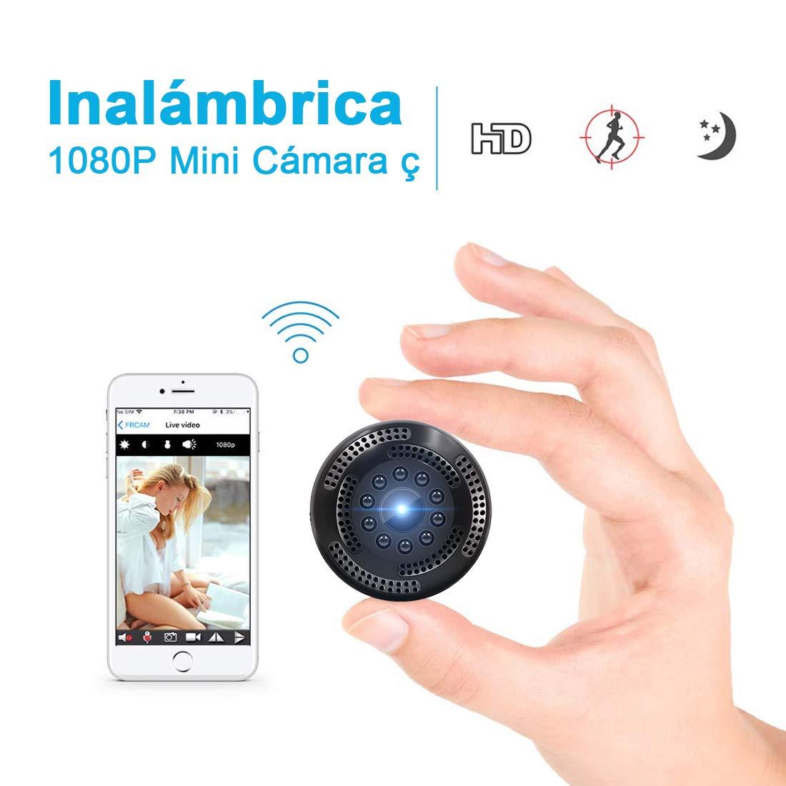 Supoggy Cámara Inalámbrica Oculta de Vigilancia con Resolución 1080P. Mini WiFi Cámara Espía con Grabación de Video Alerta de Detección de Movimiento, Visión Nocturna y Visualización Remota product image