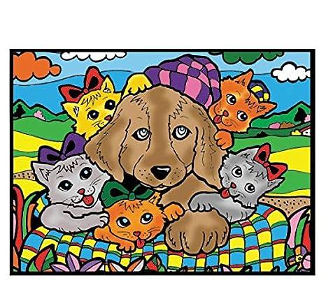 Colorvelvet Pz2 - Perro y Gatos Puzzle, 96 Piezas, 30 x 40 cm: Amazon.es: Juguetes y juegos