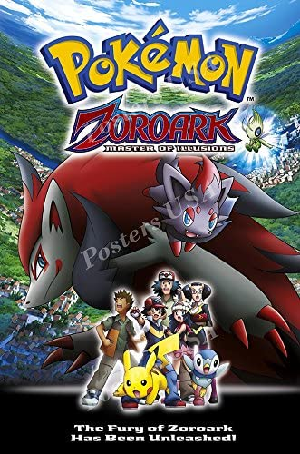 Amazon Com Premiumprints Pokemon Zoroark Master Of Illusions Movie Poster Glossy Finish Made In Usa Mov339 24