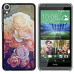 Paccase / SLIM PC / Aliminium Casa Carcasa Funda Case Cover para - Peony Orange Sun Nature Flower - HTC Desire 820