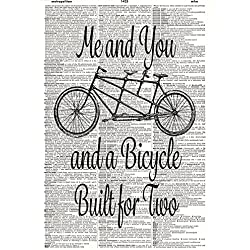 60x80 Blanket Comfort Thin Soft Air Conditioning Bicycle Built Vintage Tandem Bike Dictionary Art