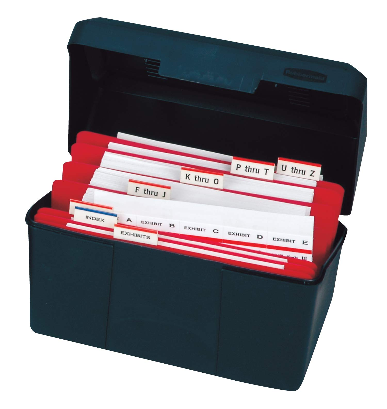 Tabbies 1/2'' Numerical Legal Exhibit Tab Kit, 1/2'' Tabs with Indexed Dividers, 1,900 Labels in Storage Case by tabbies