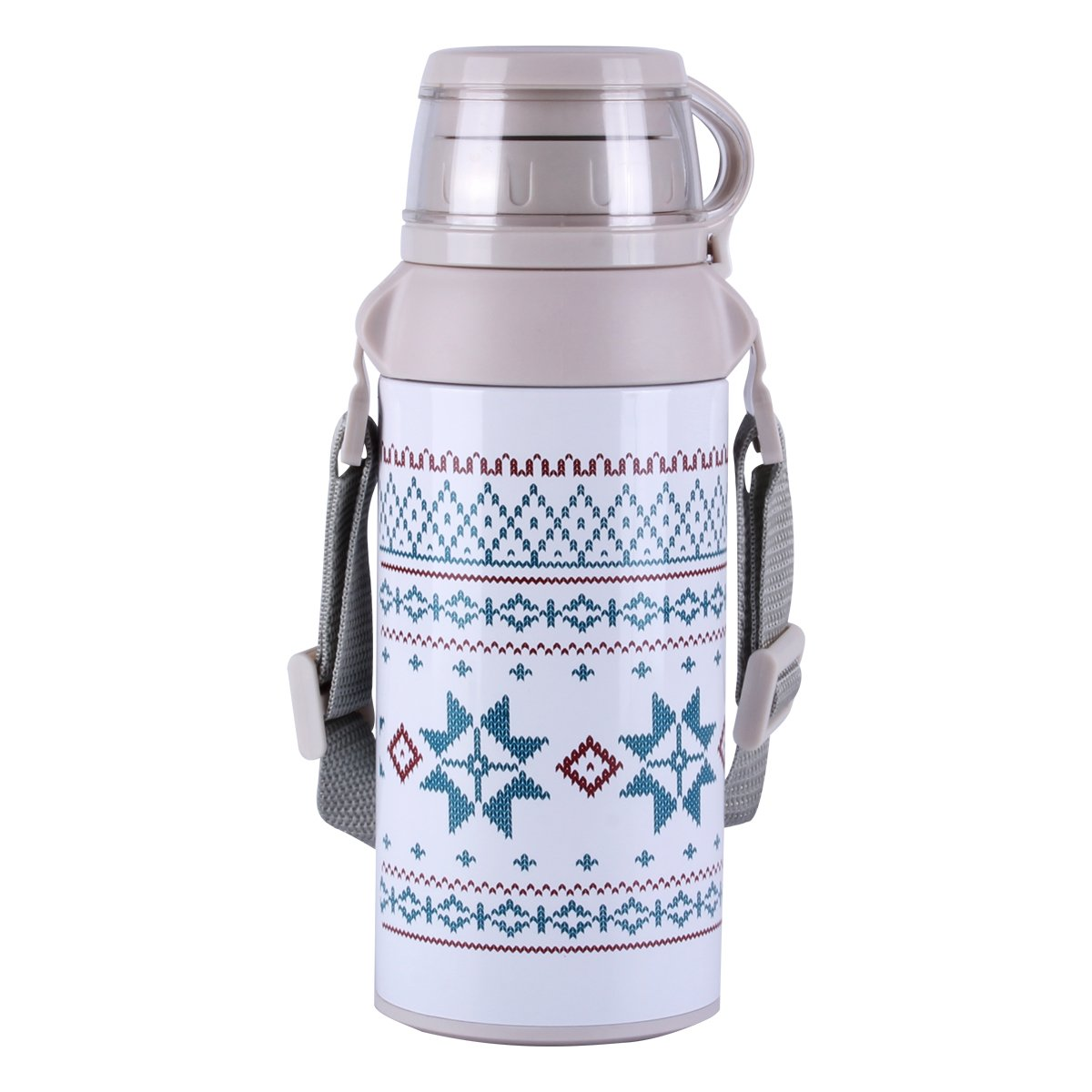 UPSTYLE Thermos Taza de viaje diseño de patrones para tejer aislado ...