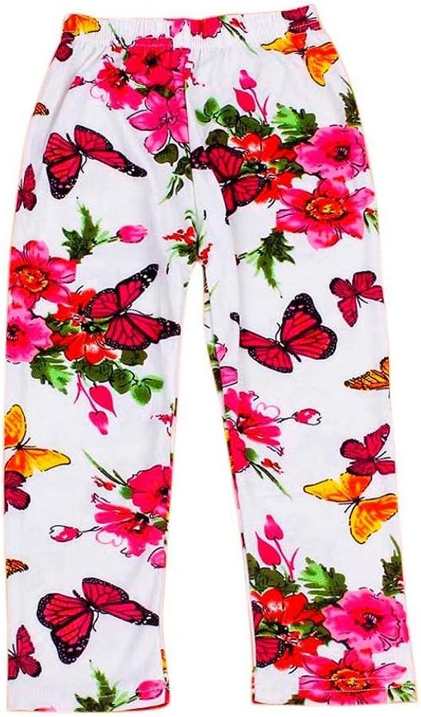 Amanod Kids Baby Girls Printing Flower Ninth Pants Tight Toddler Leggings