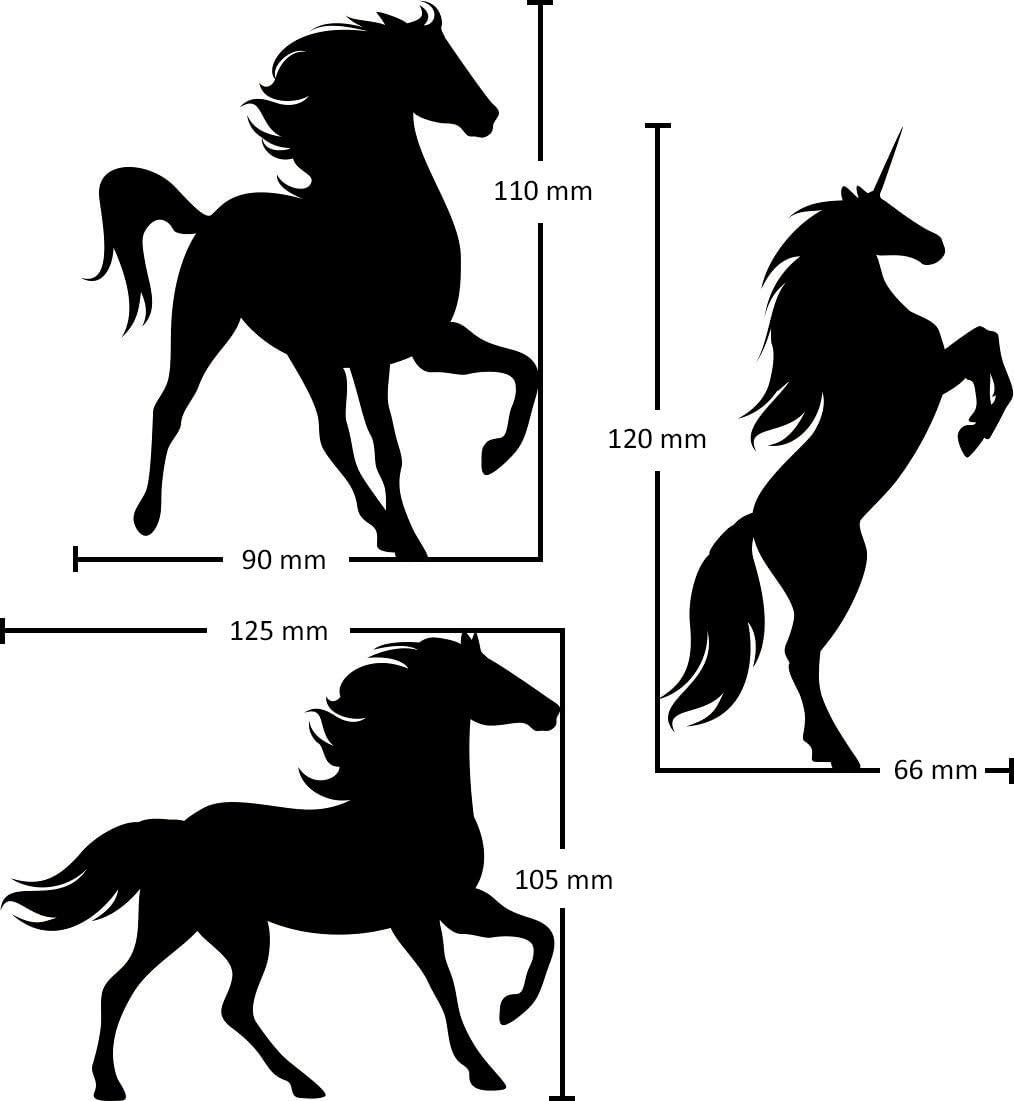 Laptop etc Profifolie Handy 4 Pferde Aufkleber für Auto Roller wetterfest