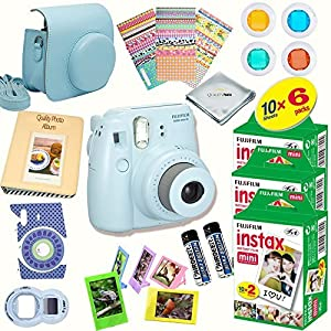 Fujifilm Instax Mini 8 Deluxe kit bundle Includes: - Instant camera with Instax mini 8 instant films (60 pack) - A MASSIVE DELUXE BUNDLE ...