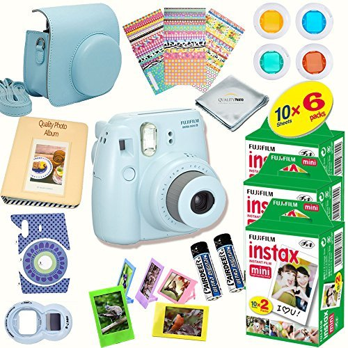 Fujifilm-Instax-Mini-8-Deluxe-kit-bundle-Includes-Instant-camera-with-Instax-mini-8-instant-films-60-pack-A-MASSIVE-DELUXE-BUNDLE-