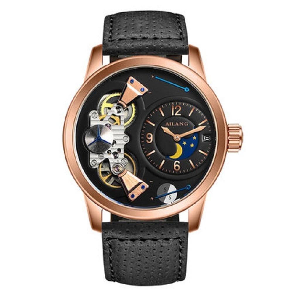 Herren Leder Armband mechanische Uhren