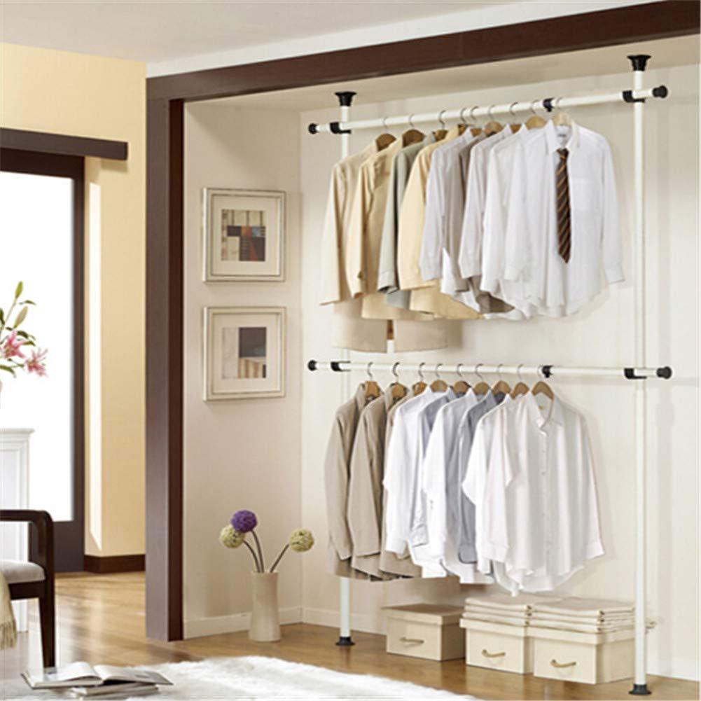 広げられた版掛かる衣類の家の調節可能な棚のオルガナイザー、棚のハンガーは60Kg(132LB)各横棒、頑丈なDIYのコートの衣服の棚を握ります B07RQ6ZQ6Q