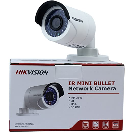 Hikvision DS-2CD2042WD-I 4MP IR Bullet Network Camera POE Day Night Vision IP66 Waterproof HD Home Security Surveillance CCTV camera with 4mm Lens Dome Cameras at amazon