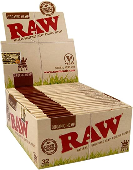 10 PACKS OF AUTHENTIC RAW NATURAL ROLLING PAPER ORGANIC KING SIZE SLIM