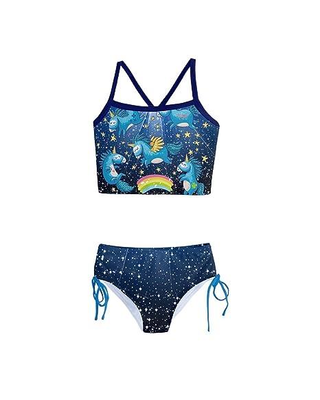 42d3bbd95d Amazon.com  PattyCandy Little Toddler Girls Girly Swimwear Unicorn ...