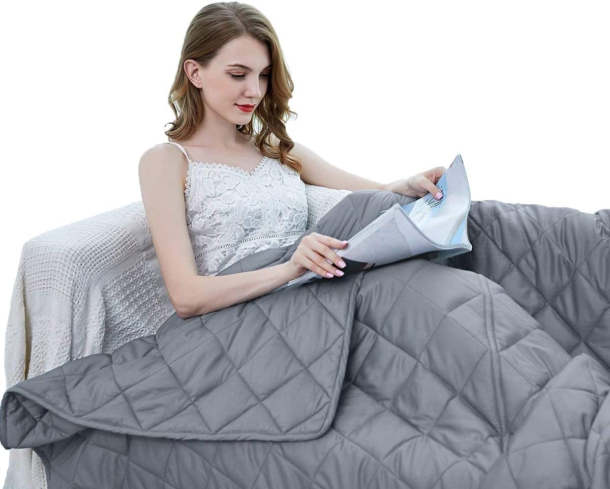 ZZZhen Weighted Blanket - High Breath - 60''80'' 20LBs - Quality Heavy Blankets - Calm Sleeping for Adult and Kids, Durable Quilts and Quality Construction