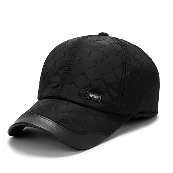 c1fc8a675a0 Image Unavailable. Image not available for. Color  Autumn Winter Warm  Baseball Cap for Men with Ear Flaps Cotton Thick ...