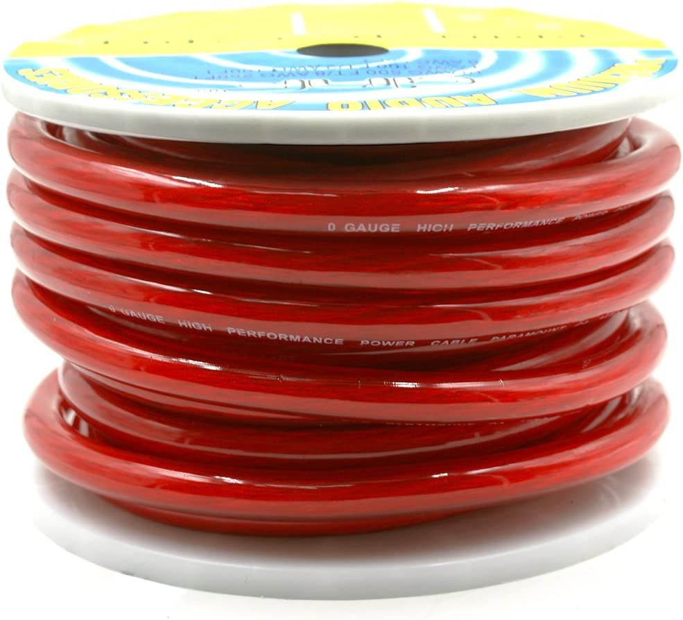 DNF 0 Gauge 25 Feet Red Power Cable 100/% OFC Premium Oxygen Free Copper