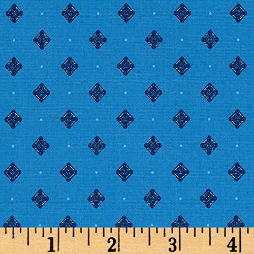 Kaufman Sevenberry Petite Foulard Medallion Evening Fabric By The Yard